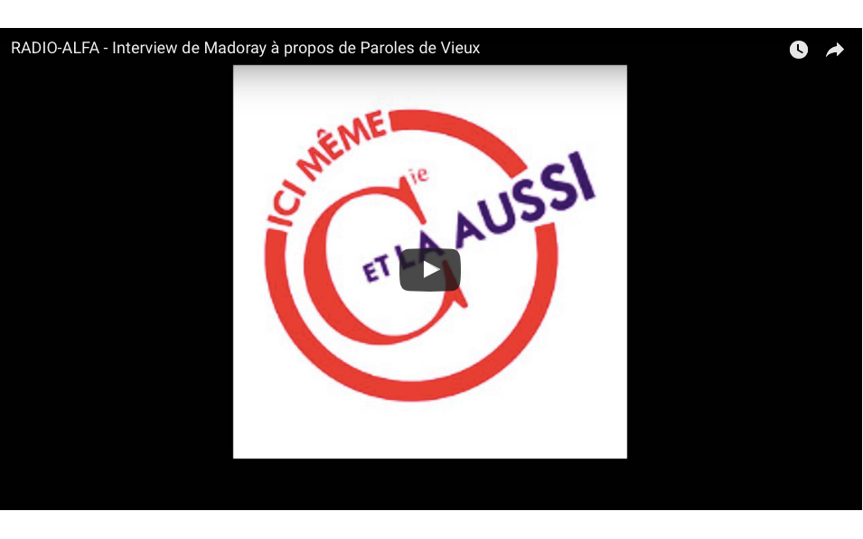 Extraits du passage à la radio Alfa de Madoray du 6 mars 2016