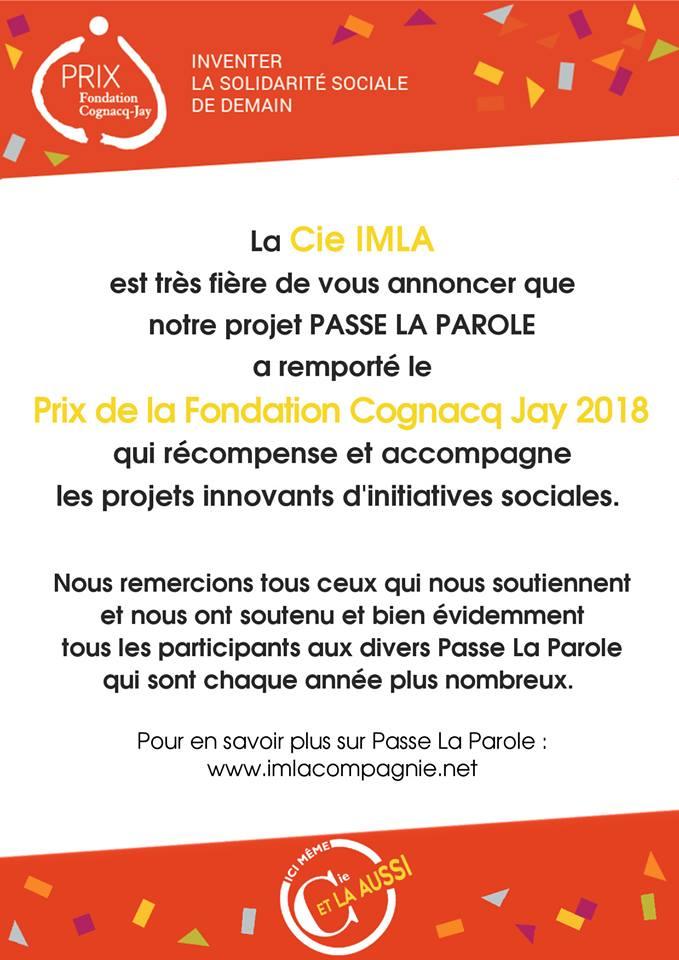 PRIX DE LA FONDATION COGNACQ-JAY